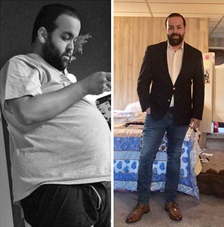 people were able to lose weight before and after weight loss